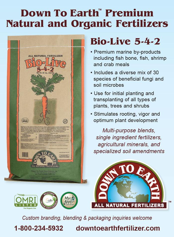 Bio Live Fertilizer | Down to Earth Distributors, Inc